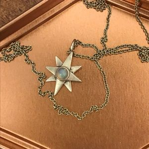 Gold-plated Silver 5-point star Necklace